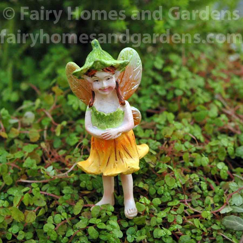 Tiny Pumpkin Blossom Fairy