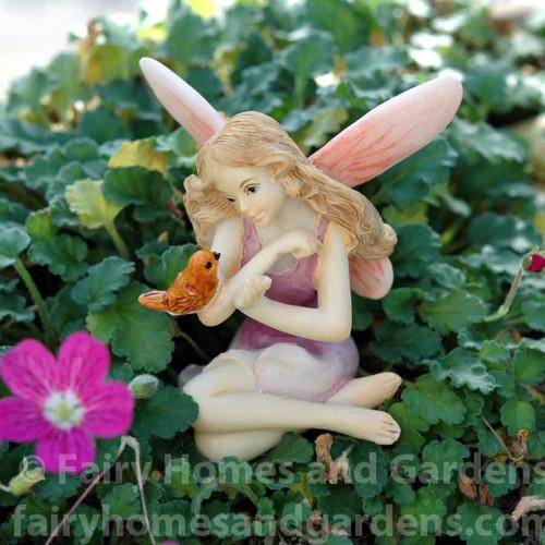 Miniature Fairy with Bird