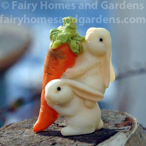 Miniature Bunnies with Carrot