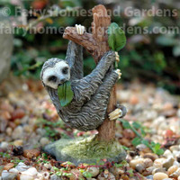 Miniature Sloth Eating Leaves