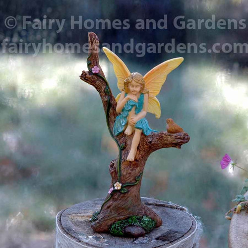 Woodland Knoll Fairy Girl Sitting Prettily in a Tree