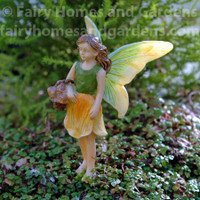 Woodland Knoll Fairy Gathering Mushrooms