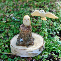 Woodland Knoll Miniature Owls - Set of Two