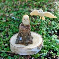 Woodland Knoll Miniature Owls - Set of Two