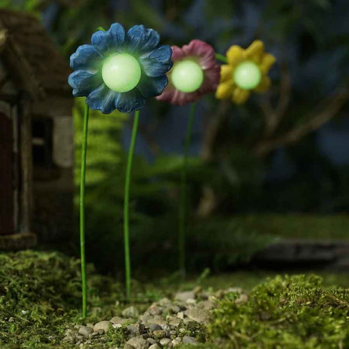 Glow in the Dark Fairy Flowers Set of Three