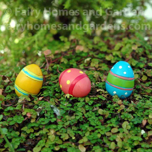 Miniature Merriment Easter Eggs - Set of Three