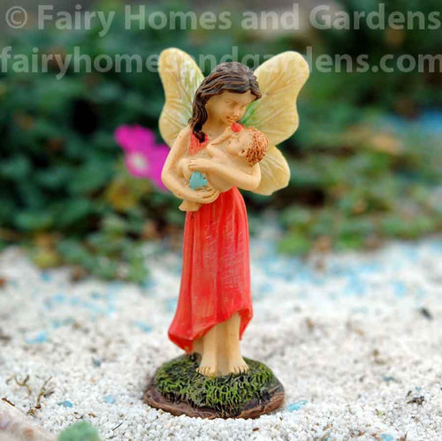 Miniature Woodland Knoll Mother and Child Fairies