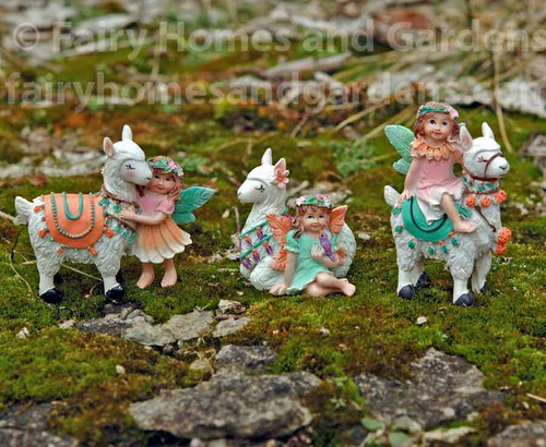 Miniature Fairy Tale Fairies and Pet Llamas