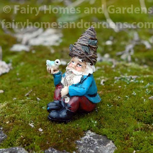 Miniature Nature Gnome and Tiny bird