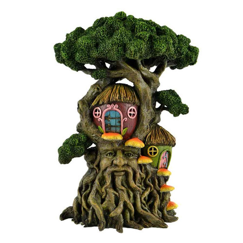 Large Enchanted Tree with Double Fairy Tree Houses