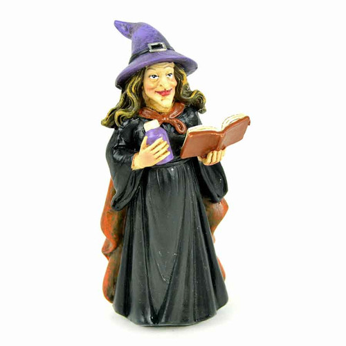 Miniature Witch Figurine Casting Spells