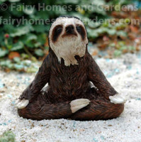 Miniature Collectible Sloth Meditating Figurine