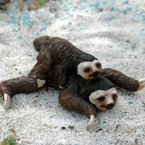 Mama and Baby Sloth Miniature Figurine