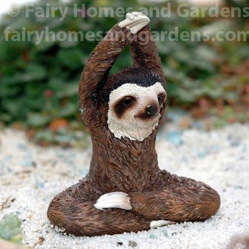 Miniature Sloth Practicing Yoga Collectible Figurine