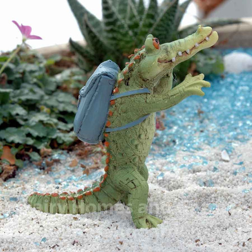 Miniature Alligator 'Chompie' Off To School Collectible