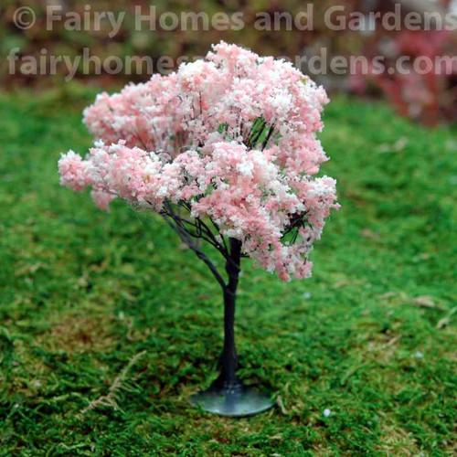 Miniature Artificial Pink Flowering Tree