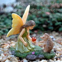 Woodland Knoll Fairy with Hedgehog