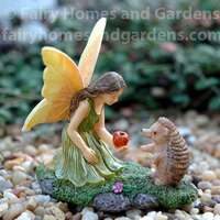 Woodland Knoll Fairy with Hedgehog