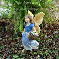 Woodland Knoll Fairy Gathering Flowers