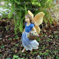 Woodland Knoll Fairy Gathering Flowers
