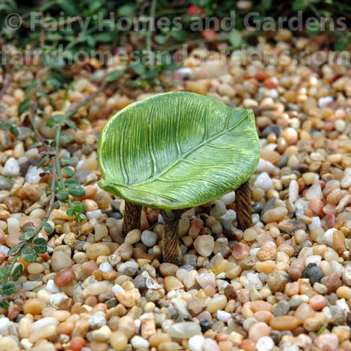 Miniature Leaf Fairy Bench