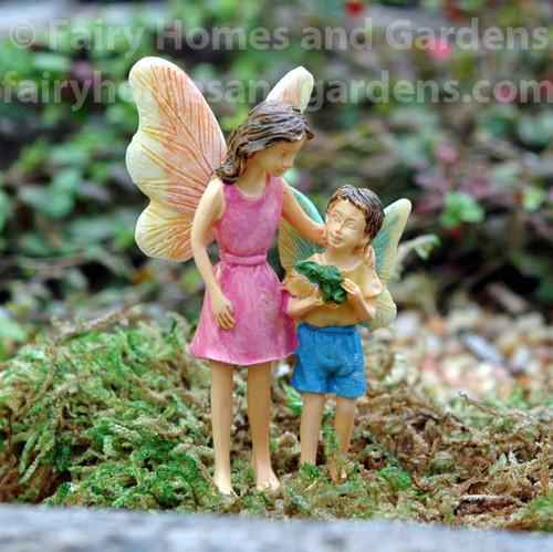 Miniature Woodland Knoll Fairies