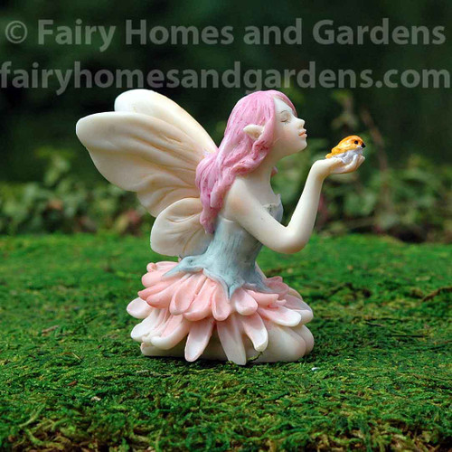 Miniature Top Collection Flower Fairy with Bird