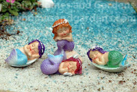 Miniature Sleeping Mermaid Babies - Set of Four