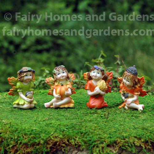 Miniature Harvest Fairies - Set of Four
