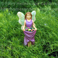 Miniature Fairy with Skirt Full of Flowers