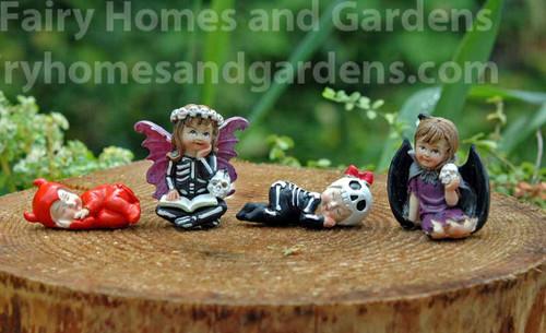 Miniature Halloween Fairies and Babies - Set of Four