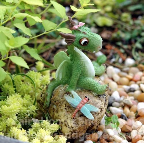 Miniature Girl Dragon Figurine - Emberz