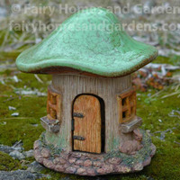 Glazed Top Woodland Knoll Mushroom Fairy House