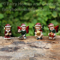 Miniature Christmas Fairies - Set of Four