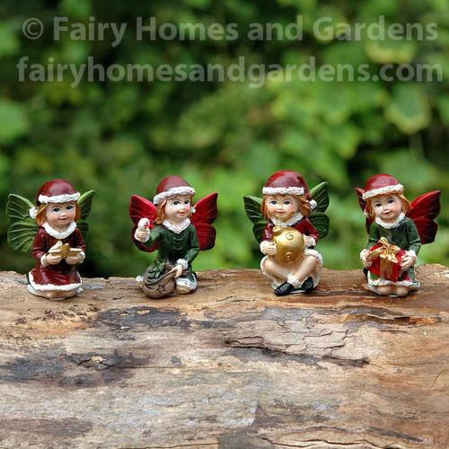 Miniature Christmas Fairies - Set of Four