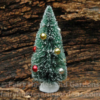 Bottle Brush Christmas Tree with Ornaments