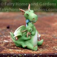 Miniature Mama Dragon and Baby Figurine