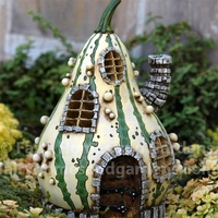 Striped and Warted Gourd Fairy House