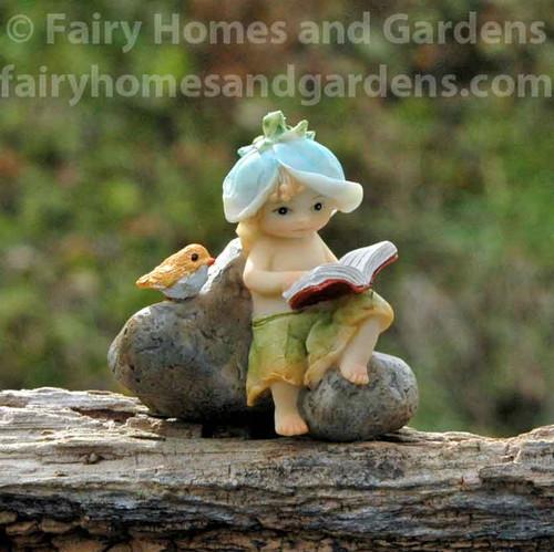 Miniature Reading Garden Sprite Collectible