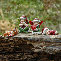 Christmas Fairies and Babies Figurines
