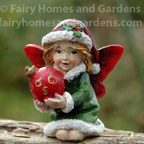 Miniature Christmas Fairy with Ornament