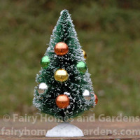 Miniature Christmas Tree with Ornaments