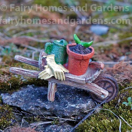 Woodland Knoll Miniature Wheelbarrow