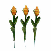 Miniature Stalks of Corn - Set of Three