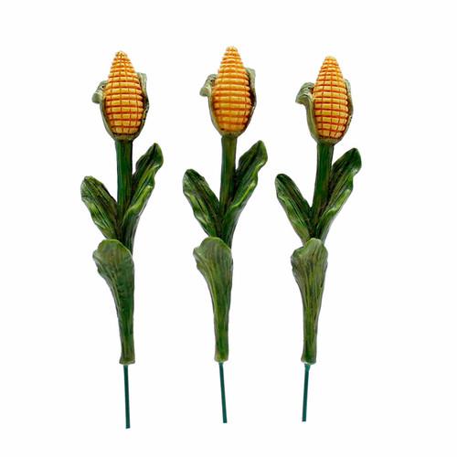 Miniature Stalks of Corn - Set of Three