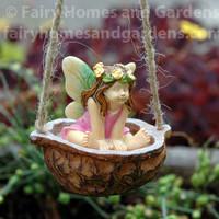 Toddler Fairy in Walnut Shell Swing
