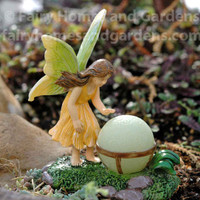 Woodland Knoll Fairy with Glow-in-the-Dark Orb