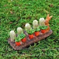 Miniature Woodland Knoll Bunny Garden Spot