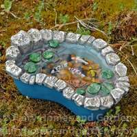 Miniature Koi and Lily Pad Pond