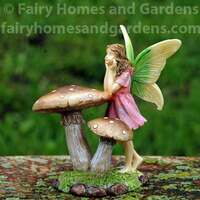 Woodland Knoll Mushroom Fairy Alternate View
